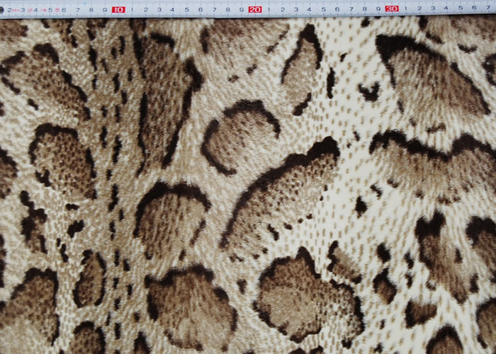 Animal Print and Rayon Fashion Fur:item numberNT719