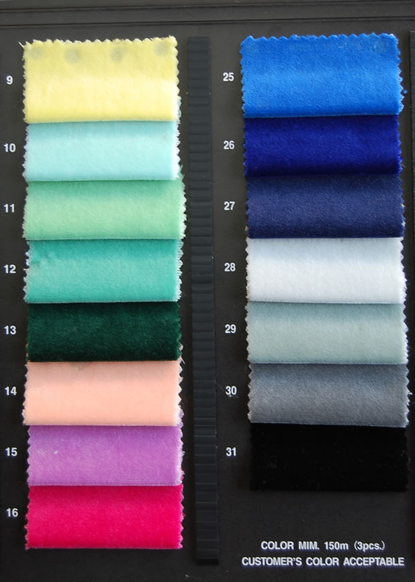 Cotton velvet Color Sample